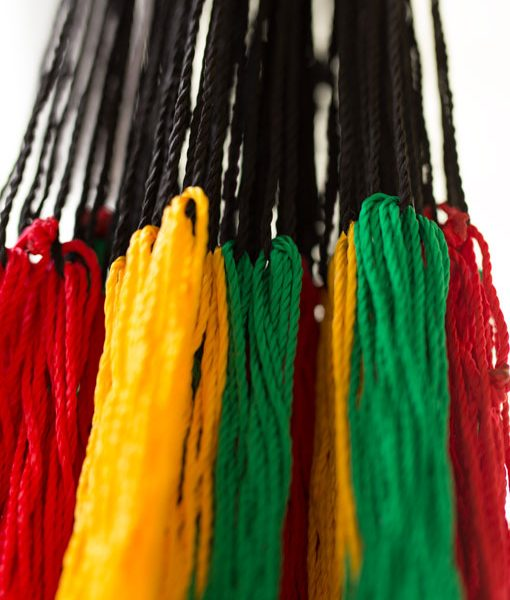 Rasta Color Hammock Scale Lines Nylon