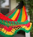Rasta Hammock With Woven Fringes
