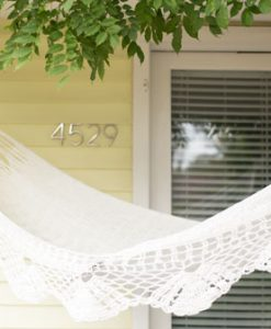 Santo White Indoor Hammock Bed